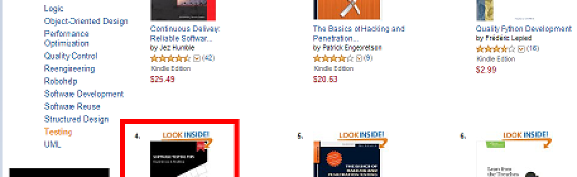 Software Testing Tips Amazon'da En Çok Satanlar Listesinde